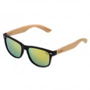 Ochelari de soare polarizati brate din bambus Pedro 1203M-3