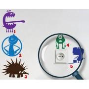 Pachet Stickere pentru Prize - Monstruleti (Camera Baieti)