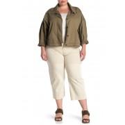 Sanctuary Wide Leg Cropped Pants Plus Size SALT