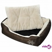 vidaXL Topli krevet za pse s podstavljenim jastukom S