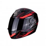 Scorpion Casco Moto Integrale Exo-490 Air Nova Black Red