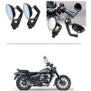 AutoStark 7/8 22cm Motorcycle Rear View Mirrors Handlebar Bar End Mirrors - Bajaj Avenger 150 Street