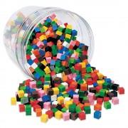 Cuburi multicolore Learning Resources, 1000 bucati, 6 - 10 ani