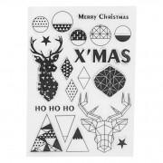 Joyeux Noël tampon Transparent En Silicone DIY de Carte D'album