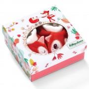 Papucei de bebeluși în cutie cadou, Alice vulpița