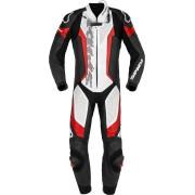 Spidi Laser Pro Jednodílný perforovaný motocyklový kožený oblek 52 Černá červená