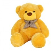 Omex 5 Feet BIG Stuffed Spongy Teddy Bear Cuddles Soft Toy For Kids 152 Cm - YELLOW