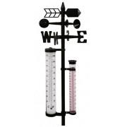 Zahradní meteorologická stanice teploměr anemometr