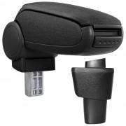 [pro.tec]® Lakťová opierka pre Hyundai i10, 2. - lakťová opierka - s odkladacím priestorom - tkanina - čierna