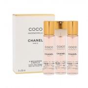 Chanel Coco Mademoiselle eau de toilette ricarica 3x20 ml donna