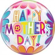 Qualatex Bubbles Mother's Day Big Flowers Single Bubble 22in/50cm