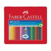 Faber Castell GRIP metalen etui a 24 stuks kleurpotloden