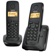 Bežični telefon Gigaset A120 Duo, Crni