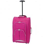 Geen Handbagage reiskoffer/trolley roze 55 cm