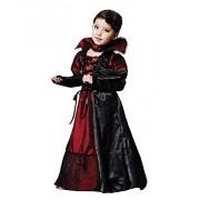SSJ Children Witch Visual Black Red Cosplay Halloween Costume (125 - 135 cm)