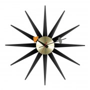 Vitra - Sunburst Clock, schwarz/ messing