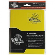 Monster Binder - 4 Pocket Trading Card Album - Matte Yellow (Anti-theft Pockets Hold 160+ Yugioh Pokemon Magic the Gathering Cards)