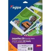 agipa 119492 jacquettes CD/DVD jet d'encre - Poch 15 feuilles