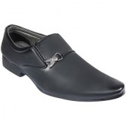 Dia A Dia Men's Black Slip on Smart Formals Formal Shoes