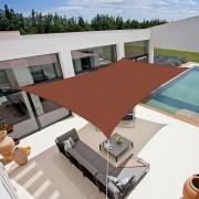 Coté Store Voile d'ombrage résistante au vent 280g/m2 - Rectangulaire - 5 x 3 m - Terracotta