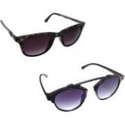 FashBlush Wayfarer, Retro Square, Round Sunglasses(Grey)