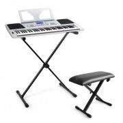 "SCHUBERT Keyboard-Komplett-Set ""Little Brahms"" USB-MIDI-Keyboard 61 Tasten, Keyboard X-Ständer, Keyboard Bank höhenverstellbar"