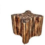 Desi Karigar Natural Wood Bar Seating Stool 12x12 Inches