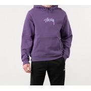 Stüssy Stock Logo App. Hoodie Purple