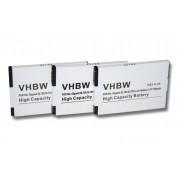 3 x Li-Ion Batterie 700mAh Adapté aux modèles suivants Siemens Gigaset SL4 Professional, Unify Openstage SL4. Remplace: V30145-K1310K-X444 etc.