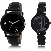 The Shopoholic Black Combo Fashionable Fancy Collection Black Dial Analog Watch For Boys And Girls Mens Casual Watches