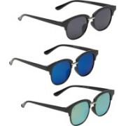 Vast Clubmaster Sunglasses(Grey, Blue, Green)