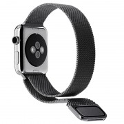 Apple Watch Series 5/4/3/2/1 Magnetic Milanese Strap - 44mm, 42mm - Black