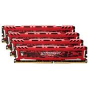 Ballistix Sport LT 16GB Kit DDR4 4GBx4 2666 MT/s DIMM 288pin red