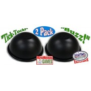 Endless Games Exclusive Electronic Black 3 Mode Game Answer Buzzer and Count Down Timer Gift Set Bundle - 2 Pack