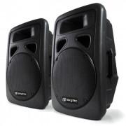 Skytec PA-högtalare i par Skytec 38cm aktiva högtalare 2x800W ABS