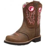 ARIAT Fatbaby Cowgirl Western Boot (Little Kid/Big Kid), Powder Brown/Western Brown, 9 M US Toddler