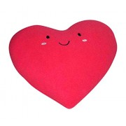 Oscar Home Shaped Pillow Heart Shape With Embroidered Face Pillow Soft Toy Perfect Birthday Gift for Kids / Children - Dimension: 15x13 Inches Round Plush Pillow Toy - Stuffed Pillow Material: Soft Plush Fabric, Poly-fiber Filling Cushion-Red