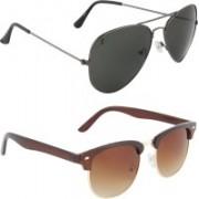 Zyaden Aviator, Oval Sunglasses(Black)