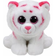 Jucarie plus 24 cm Beanie Babies TABOR - pink-white tiger TY
