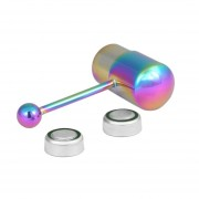 1PC Cool Vibrating Barbell Tongue Piercing Stainless Steel Body Jewelry Colorful