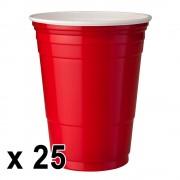 StudyShop 25 st. Red Cups Röda Muggar (16 Oz.)