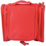 Everbuy Travelling Bag for Women and Men Travel Bag Multifunction Organizer Bag for Makeup&Cosmetic&Shaving Kit Water Resistant Large Toiletry Kit for Household Business Vacations Travel Toiletry Kit(Red)