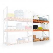 META Regał paletowy 4400x1800x1100 mm, 3 piętra, dodatkowy