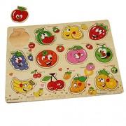 Dazzling Toys Kids Favorite Jumbo Fruits Knob Puzzle