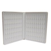 120 Colors Nail Gel Color Card Chart Polish Display Box Blank Book Panels Inlaid Snap Acrylic Tips