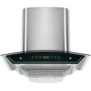 Health Pure ultima dj touch with baffle filter Auto Clean Wall and Ceiling Mounted Chimney(silver 1100 CMH)