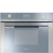 Smeg 45cm Linea Steam Oven, Silver-mirrored Glass - SF4120VC