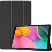Husa Tableta Samsung Galaxy Tab A 2019 10.1 inch Lemontti Custer Texture Leather Case Black
