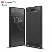 Husa Sony Xperia XZ1 Neagra Carbon Series