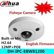Original dahua DH-IPC-EBW81200 12M Ultra HD Vandal-proof IR Network Fisheye Camera IP67 IPC-EBW81200